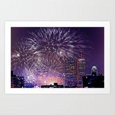 Massachusetts  July 4th Pops Fireworks Art Print