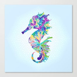 Mr. hippocampus is the man 海馬先生 - 一家之主 Canvas Print