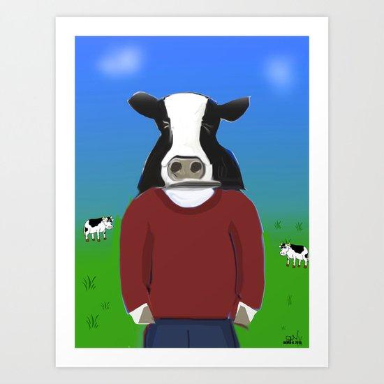 Cow-boy Art Print