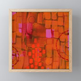 Brick Layers Framed Mini Art Print