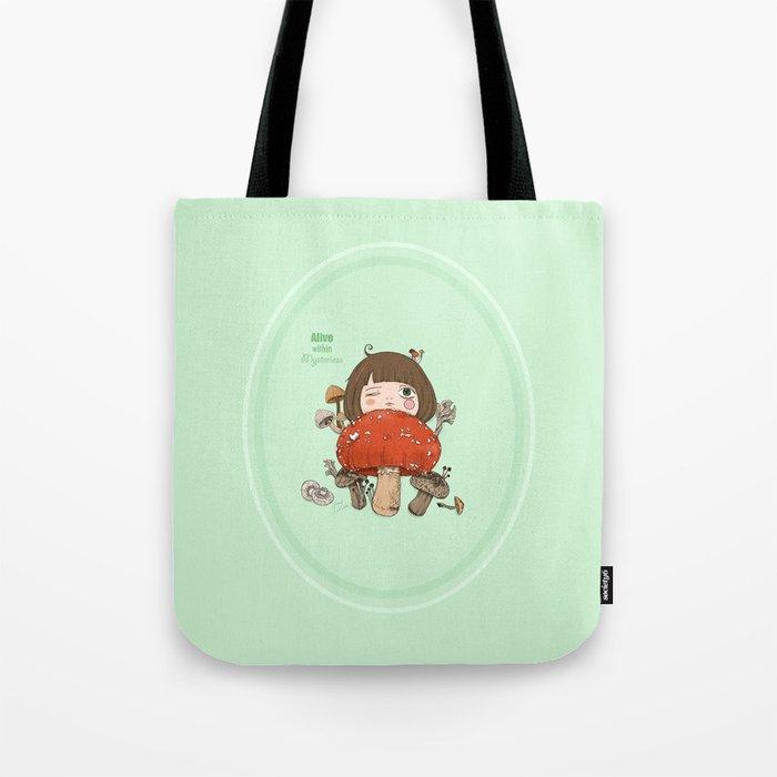 Mushroom girl Tote Bag