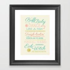 Dancing Baby Finn Framed Art Print