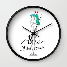 Amor Adolescente Wall Clock