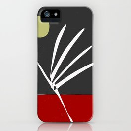 zen garden red and black iPhone Case