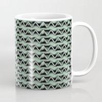 malachite Mugs featuring Malachite Triangles by naturessol