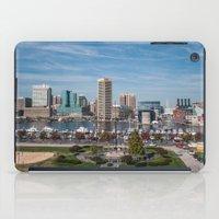 baltimore iPad Cases featuring Baltimore Skyline by Josh Lohmeyer