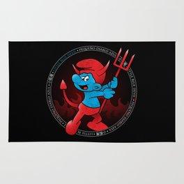 The Little Blue Devil Rug