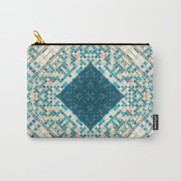 blue and orange pool tiles Carry-All Pouch