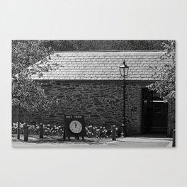 Oakfield Station bw Canvas Print