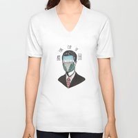 dale cooper V-neck T-shirts featuring Agent Dale Cooper by Ryan M Whiteley