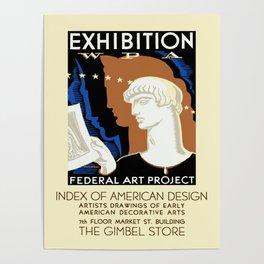 American Design Exhibition Poster