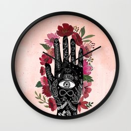 Touching the sky. Cosmic Art Wall Clock
