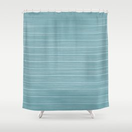 Island Paradise Blue Weathered Whitewash Wooden Beach House Shower Curtain