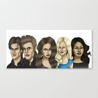 the vampire diaries Canvas Prints featuring The Vampire Diaries Caricature Artwork by GinjaNinja1801