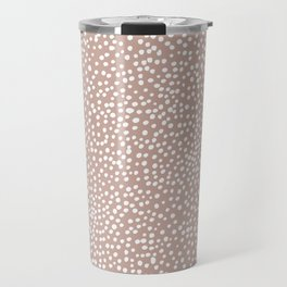 Little wild cheetah spots animal print neutral home trend warm dusty rose coral Travel Mug
