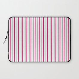 Grey pink stripes pattern Laptop Sleeve