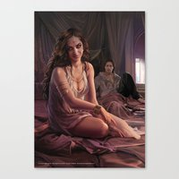"martell Canvas Prints featuring Arianne Martell ""A Song of Ice and Fire"" ( A Game of Thrones ) by Magali Villeneuve"