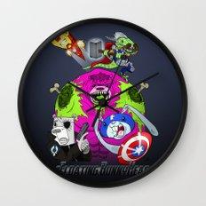 Floating BunnyHead + Avengers Wall Clock