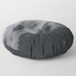 A Mountain of Fog Floor Pillow