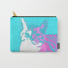 Two Toned Neon Cat Carry-All Pouch