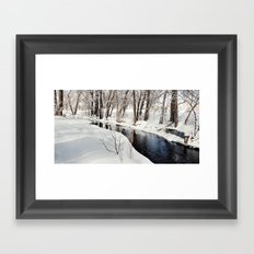 Snowy Creek Framed Art Print