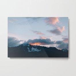Alaskan Mountain Dawn V Metal Print