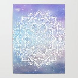 Beautiful mandala flower Poster