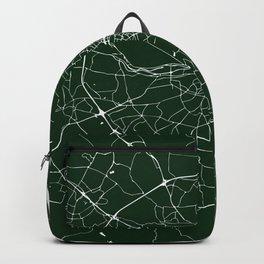 Dublin Ireland Green on White Street Map Backpack
