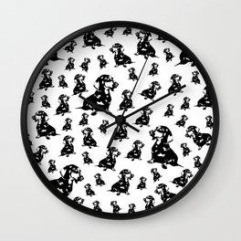 CHRISTMAS GIFTS FOR DOXIE DOG GIFTS LOVERS FROM MONOFACES IN 2020 Wall Clock