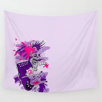jojo Wall Tapestries featuring Punk Is Not Dead by JoJo Seames