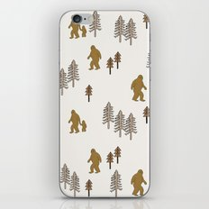 Sasquatch forest woodland mythic animal nature pattern cute kids design forest iPhone Skin