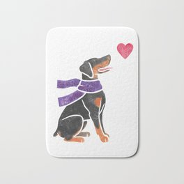 Watercolour Doberman Pinscher Bath Mat