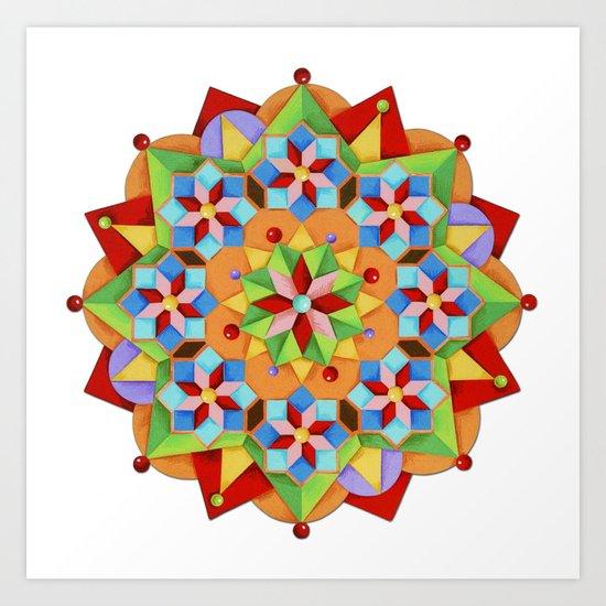 Manchester Mandala Art Print