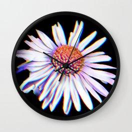 Daisy glitch Wall Clock