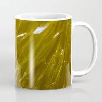orange pattern Mugs featuring Orange pattern by Svetlana Korneliuk