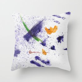Watercolor Mania Throw Pillow