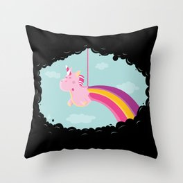 Licorne Piñata Black Version Throw Pillow