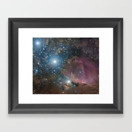 Orion Belt, Flame, and Horsehead Framed Art Print