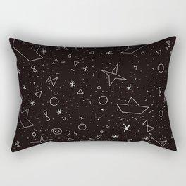 Paper boats pattern Rectangular Pillow