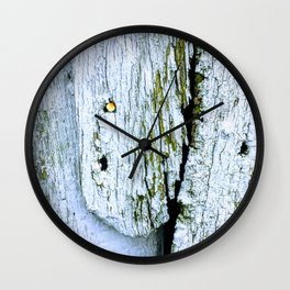 Weathered Barn Wall Wood Texture Wall Clock