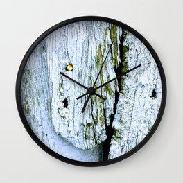 Weathered Barn Wall Wood Texture Wall Clock