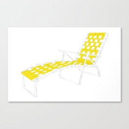 Deck Chair Canvas Print