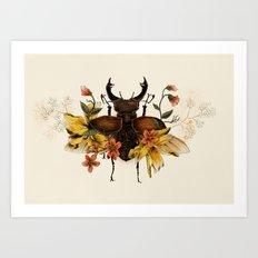 Blooming Beetle Art Print