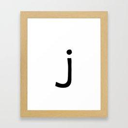 J Monogram (Hand 2) Framed Art Print