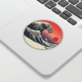 The Great Wave of Pug Sticker