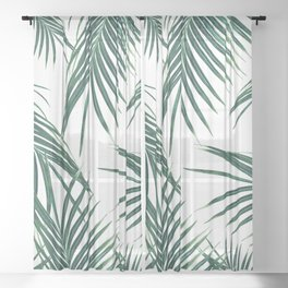 Green Palm Leaves Dream #2 #tropical #decor #art #society6 Sheer Curtain