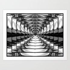 Abstract.Black+White. Art Print