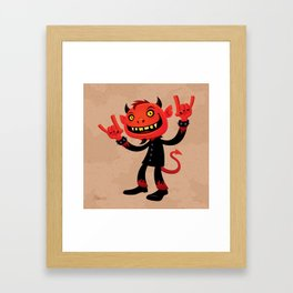 Heavy Metal Devil Framed Art Print