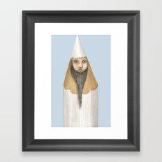 Pencil Head Framed Art Print