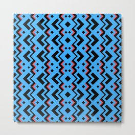 010 Abstract cyan,red and black for home decoration Metal Print
